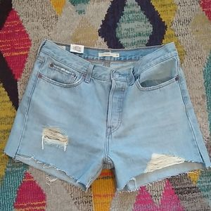 Levi's Distressed Wedgie Shorts